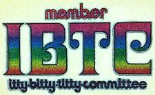 "Vintage ""Itty Bitty Titty Committee"" Iron On Transfer  Full Glitter IBTC"