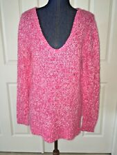 aeropostale womens pink knit sweater juniors v neck long sleeve casual medium