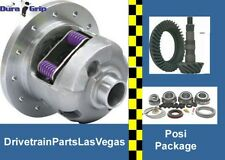 "GM Chevy 8.2"" 10 Bolt Duragrip Posi Ring Pinion Gear Set Master Kit Package 3.55"