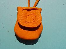 Bald Eagle Head Medicine Bag Buckskin Flap Pouch Leather Necklace 1012