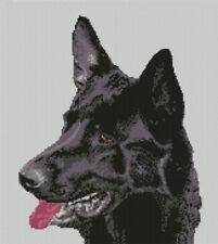 "Black German Shepherd Counted Cross Stitch Kit 10""x 12"""