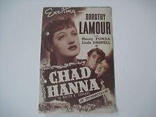 Original Movie Film Program CHAD HANNA Henry Fonda.1949. Programa de mano,cine