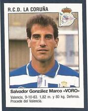 "PANINI FUTBOL 93-94 SPANISH -#376-R.C.D.LA CORUNA-SALVADOR GONZALEZ MARCO ""VORO"""