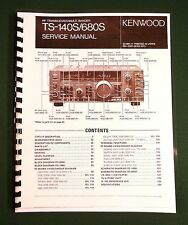 Kenwood TS-140S Service Manual -  Premium Card Stock Covers & 32 LB Paper!
