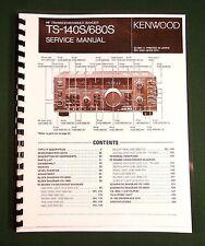 Kenwood TS-140S Service Manual -  Premium Card Stock Covers & 32 LB Paper!