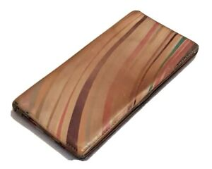 Paul Smith Purse Signature Swirl Bifold Calfskin Leather Made In Italy  RRP £285