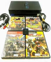 Sony PlayStation 2 PS2 Fat Console Bundle Memory Card 4 Games Tested Plays PS1