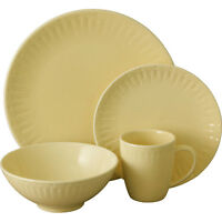 Sango 16pc Contempo Dinnerware Set - Stoneware - Cream - New - 4627-16