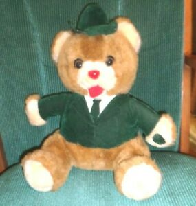 "COLLECTIBLE VINTAGE 1985  12"" Smart Sam Recording/Repeating/Talking Teddy Bear"