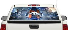 Denver Broncos Football rear window perforated vinyl graphics Decal Truck SUV