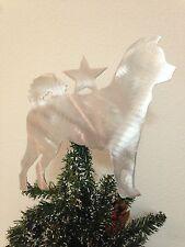 Japanese Spitz Dog, Dog Christmas Tree Topper, Holiday Decoration, Aluminum