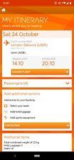 4 x Easyjet flights ONE WAY to Izmir, Turkey. 24th October 2020