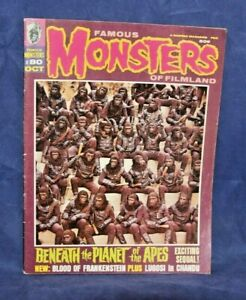 Famous Monsters of Filmland Magazine OCT, 1970 PLANET OF APES, GIRLS AND GHOULS