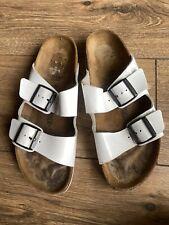 Birkenstock White Patent Leather Classic Slider Birkenstock Sandals 7 40