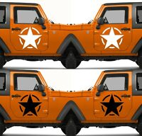 Set of 2 America US U.S. United States Army Star Vinyl Decal Sticker V19