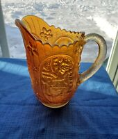 Vintage Imperial Marigold Carnival Glass 6 1/2 Inches Pitcher Windmill Pattern
