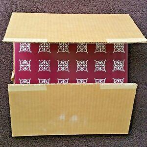 "13 Vintage 50s Enameled Steel MCM Wall Tiles 10 x 10"" Sears Roebuck NEW Open Box"
