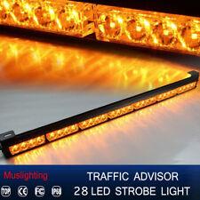 """31"""" 28 LED Emergency Warning Traffic Advisor Strobe Light Bar Amber Yellow 12V"""