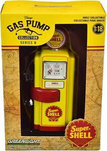 Die Cast Pumpe Benzin Super Shell Serie 8 1:18 Vintage Gas Pump GREENLIGHT