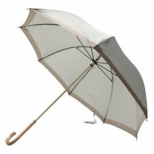 New Burberry Umbrella Wood handle Silver Ladies 60cm from Japan