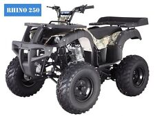 "ATV New 250D RHINO Adult Full Size 4 Wheeler  w/Reverse! Free S/H 23"" Tires!!"