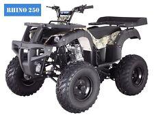 "ATV New 250D RHINO Adult Full Size 4 Wheeler  w/Reverse! Free S/H 23"" Tires!!"