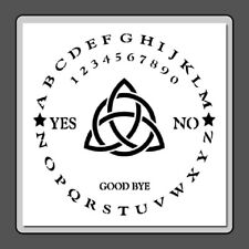 12 X 12 STENCIL Round/Circle Ouija Board w/Triquetra  Witch/Ghost/Celtic/Wiccan