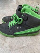Fila Trainers Green & Grey Hi-tops Size 8