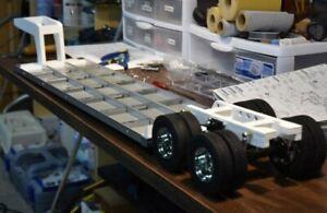 Tamiya truck / lorry 1/14 Lowboy Semi trailer Gooseneck 3D printed kit.
