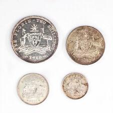 1910 Threepence - Florin Silver Australian Coin Set 8 Pearls