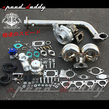 T3/T04E B-SERIES EG DB DC TURBO CHARGER+RACING RAM HORN MANIFOLD+DOWNPIPE KIT