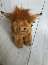 Living Nature Highland Cow Stuffed Soft Toy With Moo Sound 30cm Large