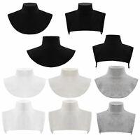 Unisex Kids Turtleneck Fake Collar Detachable Shirt Blouse Choker Necklace Decor