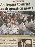 Aid Arrives Following 7.0 Haiti Earthquake Jan 15 2010 The Charlotte Observer