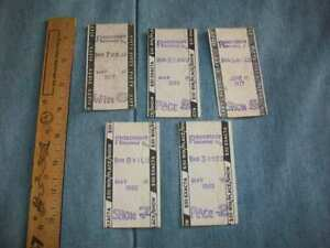 Vintage Horse Racing $50 Tote Tickets / Rosecroft Raceway (5) from 1977 & 1980