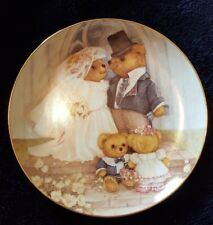 Franklin Mint Collectors Plate Just Married Bears Nice!