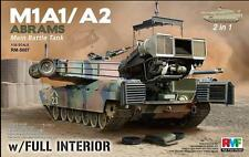 Rye Field Model 1:35 M1A1 M1A2 Abrams W/ Full Interior (2 in 1) Plastic #5007