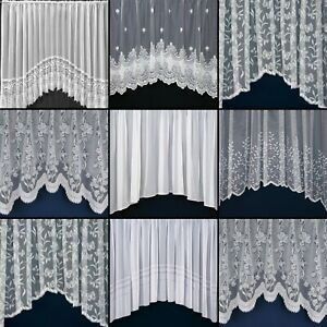 Quality New White Lace Jardiniere Net Curtains For Living Room, Bedroom, Kitchen