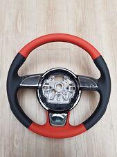 8X0064244 8ZP Original Audi A1 S1 Sportlenkrad Leder Begonienrot Legends NEU
