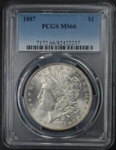 1887 Morgan Silver Dollar PCGS MS66 - No Reserve Auction .99C Opening Bid