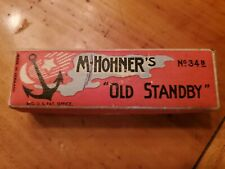 Vintage M. Hohner Old Standby No. 34B Harmonica Key of C  In Original Box