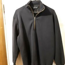Roundtree & Yorke Mens zippered pull over size M long sleeve lightweight