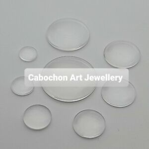 Clear glass cabochons round transparent dome 10mm 12mm 14mm 16mm 18mm 20mm 25mm