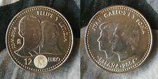 Moneda de Plata 12 Euros , Conmemorativa de la Boda Felipe y Letizia 2004