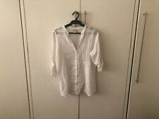 Coco Cabana White Caftan Blouse Size L