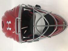 New Other Under Armour Uahg2-Avs 7-7 1/2 Catcher's Helmet Pro Head Gear Rd/Slvr