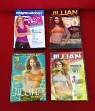 Menge 4 Workout Übung Fitness DVD 3 neue Jillian Michaels/1 Weight Watchers