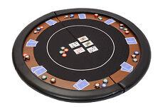 Riverboat Plegable Póker Tapa de tabla en Negro Velocidad bayeta y cuero