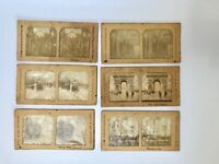 6 VUES PHOTOS STEREOSCOPIQUES MONUMENTS LISBONNE PAU PARIS VIENNE CHAUMONT G629