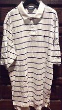 Ralph Lauren Men's white striped Polo GOLF Pima Cotton shirt Small Pony Size XL